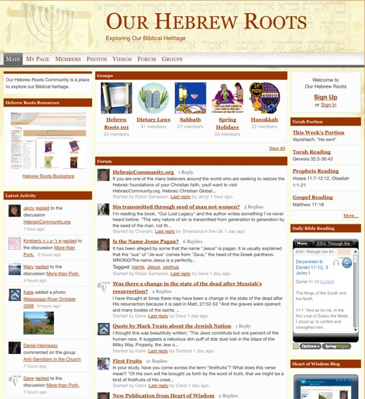As Chanukah approaches, learn about Our Hebrew Roots