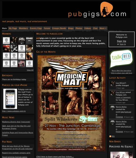 PubGigs.com is your insider guide to live UK music