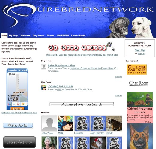 Find the perfect new pup at Purebred Network