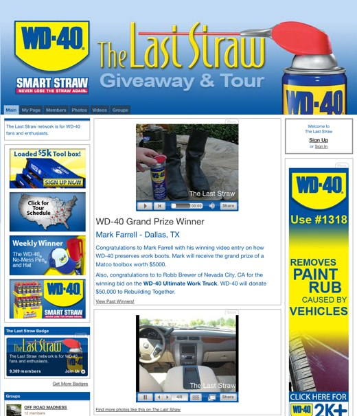 Do People Really Want a Social Network for WD-40? Ask The Last Straw 1