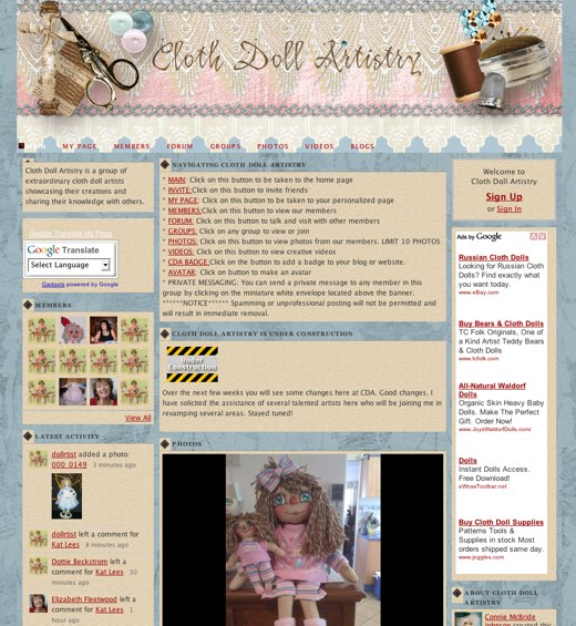 All about cloth doll artistry