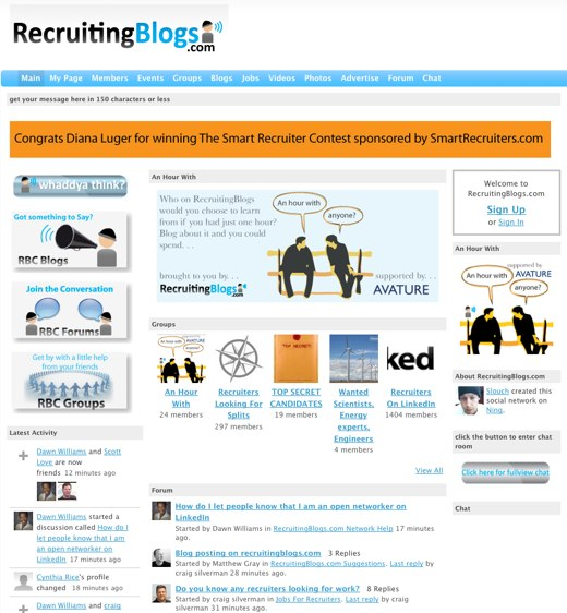 Recruit, sound off at RecruitingBlogs