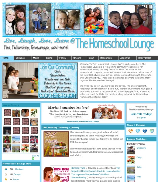 Moms share the love at The Homeschool Lounge