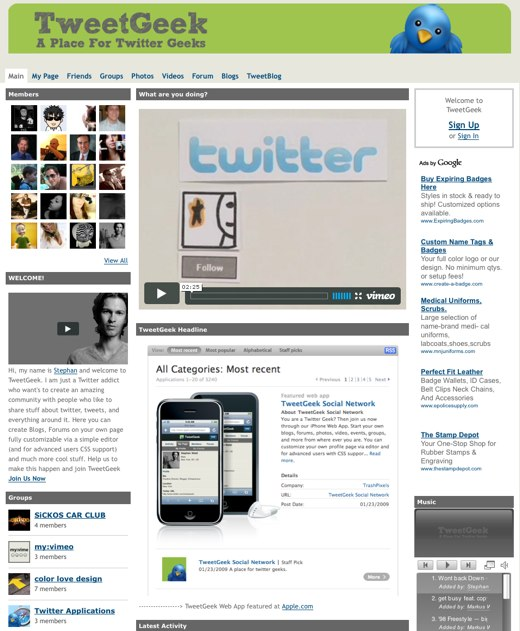 Twitter geeks building a home at TweetGeek
