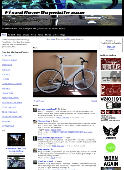 Fixed Gear Bikes Republic - Fixed Gear Bikes | fixie, fixed gear bike gallery - photos, videos, forums.