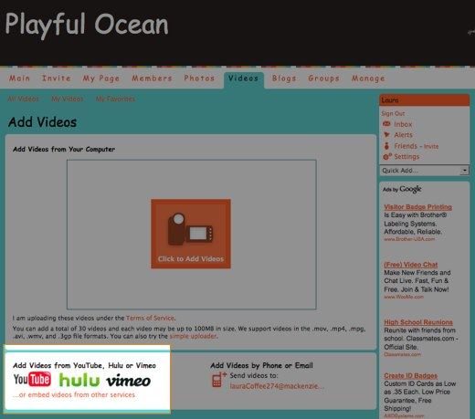 Add Videos - Playful Ocean