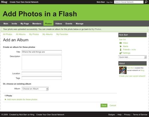 Add an Album - Add Photos in a Flash