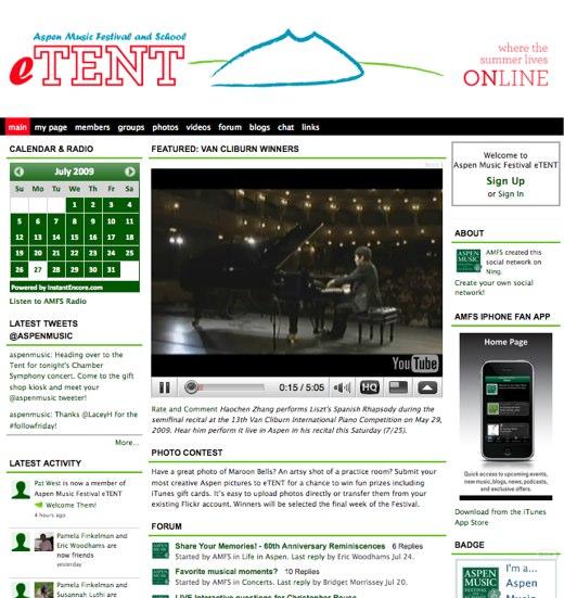Aspen Music Festival eTENT