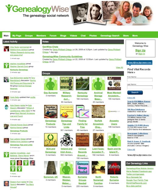 Genealogy Wise - The Genealogy & Family History Social Network