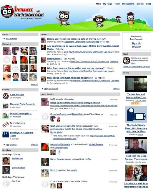 TeamSeesmic - co-learners in the school of social media