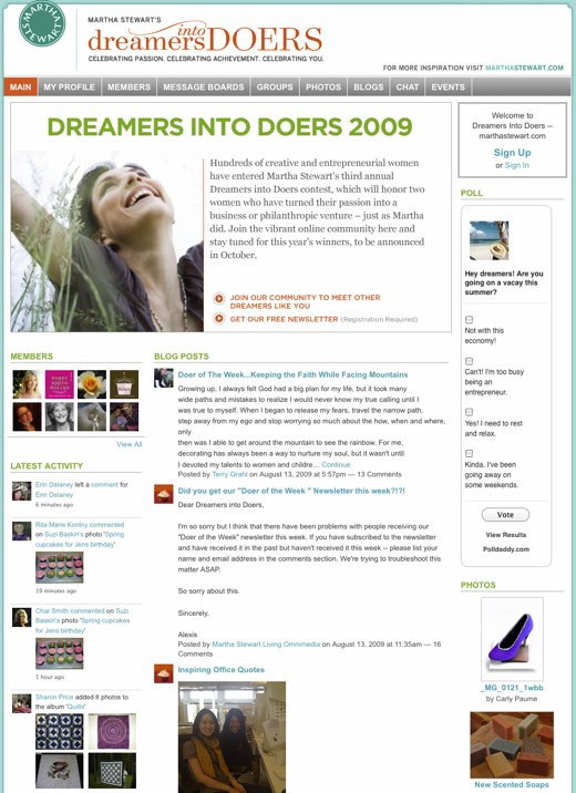 Dreamers Into Doers -- marthastewart.com