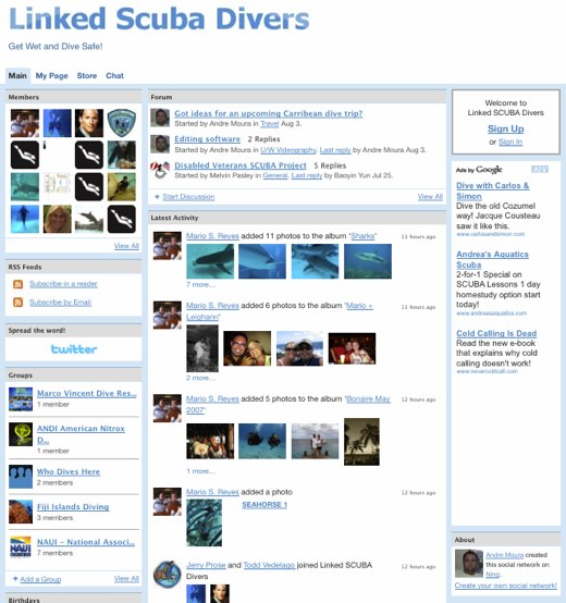 Linked SCUBA Divers - Get Wet and Dive Safe!