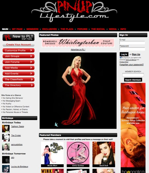 The Pinup Lifestyle Network