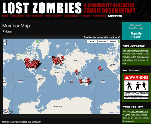 Member Map - Lost Zombies