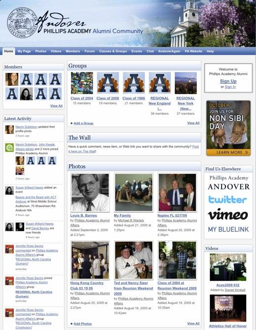 Phillips Academy Alumni - An Online Community