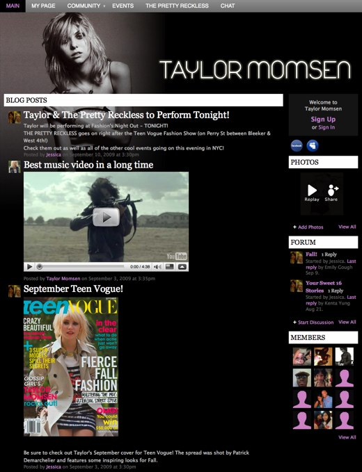 Taylor Momsen - The Official Website