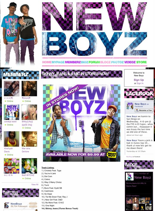 New Boyz - Skinny Jeans & A Mic In Stores Now!