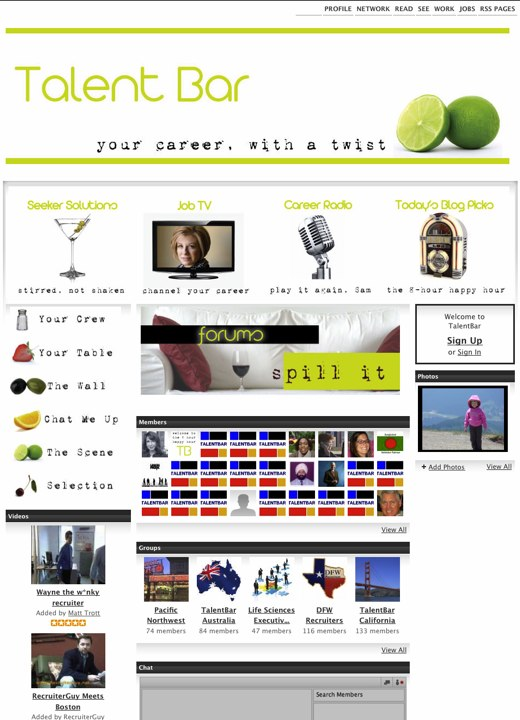 TalentBar - your career, with a twist