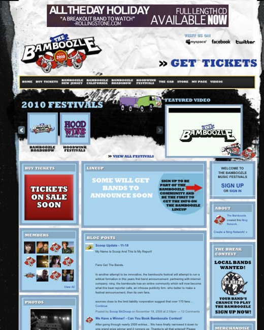 The Bamboozle Music Festivals