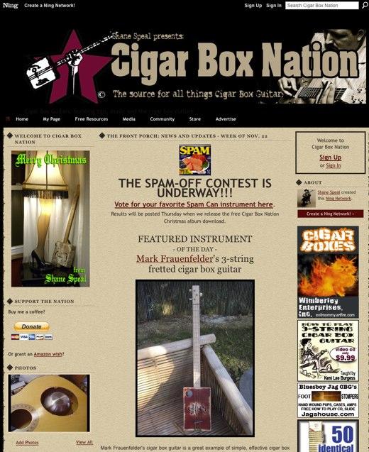 Cigar Box Nation - Cigar Box Guitars_ building tips, music and the cigar box culture
