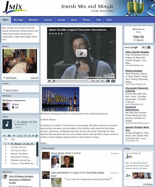 Jmix - Jewish Social Networking - events mixers community