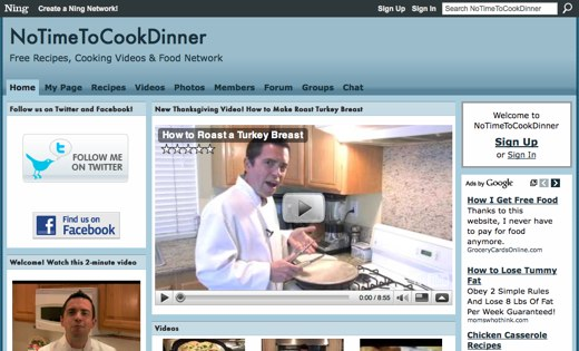 NoTimeToCookDinner - Free Recipes, Cooking Videos & Food Network