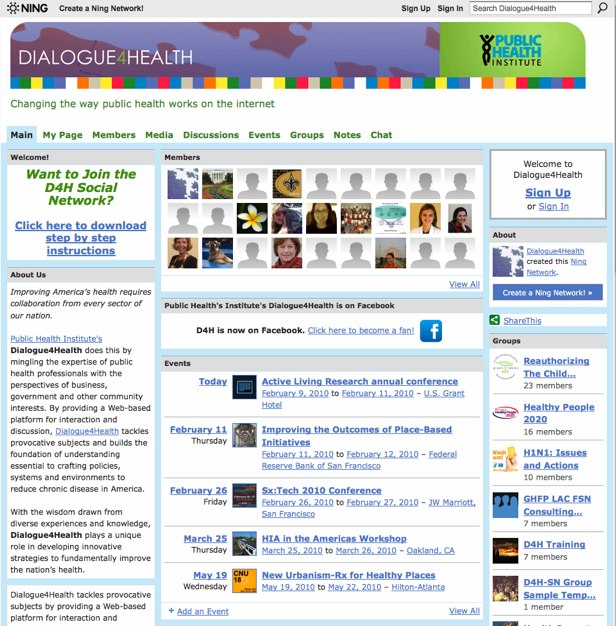 Dialogue4Health - Changing the way public health works on the internet
