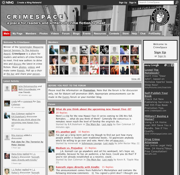 CrimeSpace Main Page