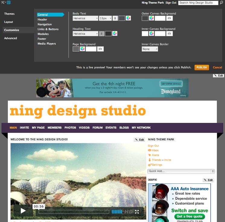 Ning Design Studio, coming February 9