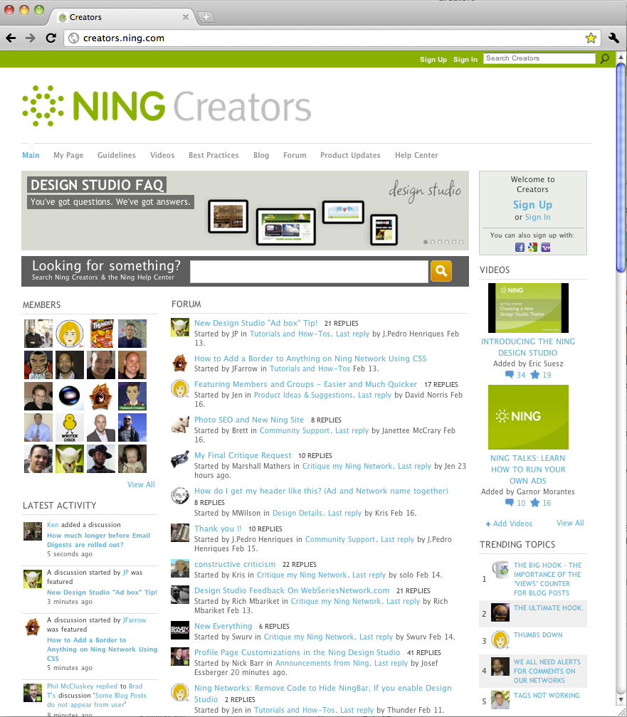 Ning Creators Network: a case study for building a thriving online customer community