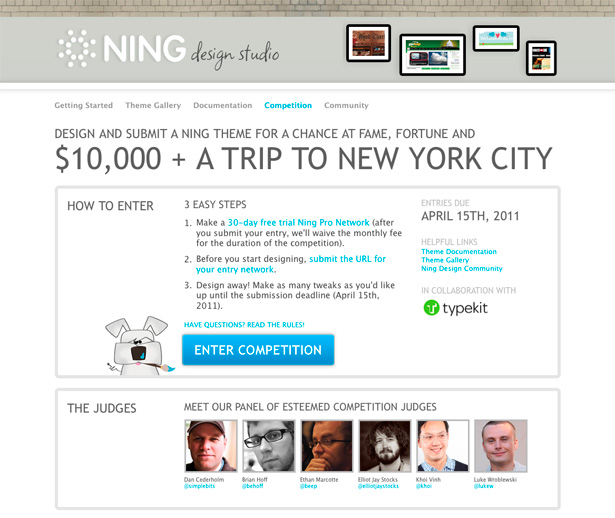 Announcing the Ning Design Competition: Win $10,000 and a Trip to New York City