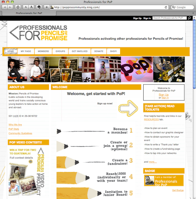 Pencils of Promise: Effectively Spreading the Word Across Social Media Channels