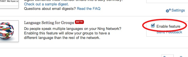 Language Settings for Groups, now on Ning! 3