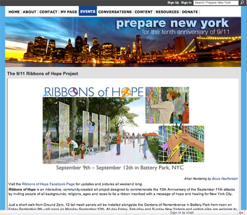 Prepare New York - Ribbons of Hope