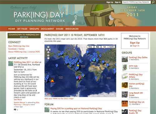 PARK(ing) Day: Transforming metered parking spots into parks