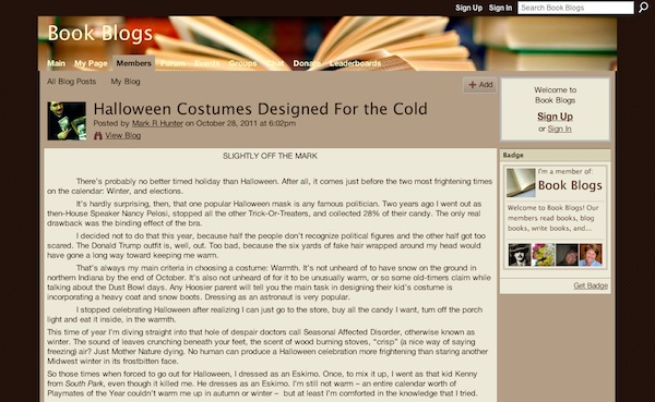 Halloween costume tips and tricks à la Ning communities 6