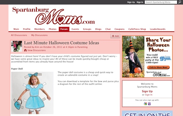 Halloween costume tips and tricks à la Ning communities 1