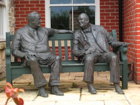 Roosevelt and Churchill in conversation